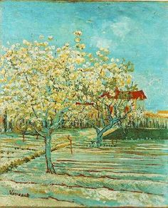 Vincent van Gogh: The Paintings Orchard in Blossom.  Oil on canvas.  Arles: April, 1888.  Switzerland: private collection.