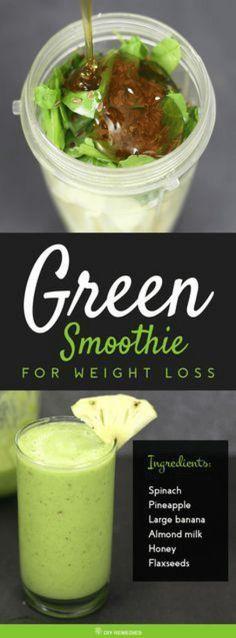 meilleur smoothie de perte de poids vert
