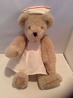 Vermont Teddy Bear in Nurse Attire Fully Jointed #VermontTeddyBearCo