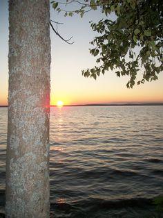 Sunset over Higgins Lake - so many wonderful memories. #puremichigan