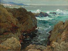 """Henry Moret (1856-1913) ~ """"Côte de Bretagne"""""""