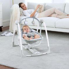 Portable Baby Swing Ingenuity Power Adapt Portable Swing - Braden Brand NEW Baby Crib Diy, Baby Cribs, Portable Baby Swing, Swings For Sale, Baby Rocker, Toddler Chair, Baby Bouncer, Baby Necessities, Baby Swings