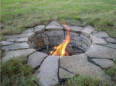 Inground fire pit!!! I like that you would have to weed around it. Just go over with the lawn mower.