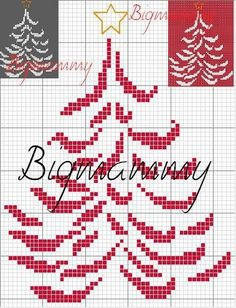 Christmas Tree - no thread chart Cross Stitch Christmas Ornaments, Xmas Cross Stitch, Cross Stitch Needles, Christmas Embroidery, Christmas Cross, Cross Stitch Charts, Cross Stitch Designs, Cross Stitching, Cross Stitch Embroidery