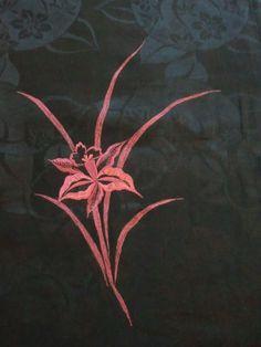 Japanese Vintage Kimono Haori Silk Black Embroidered Flower P122556   eBay