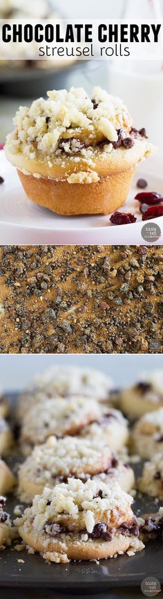... crunchy streusel. You can't go wrong with these Chocolate Cherry