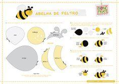 Moldes de abelha - diversos moldes de abelhas para feltro ou eva   Imagens pra vocês!