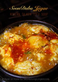 Beef Kimchi Silken Tofu Soup (Soondubu Jjigae) Recipe & Video - Asian at Home