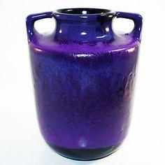 Purple West German Pottery Vase • Marei • Fat Lava • 70s • Mid Century