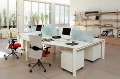 Love These Simple Non Cubicle Workstations. Office Design Ideas And Layout  From Zalf Open