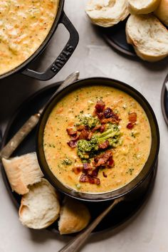 bacon beer cheese broccoli cheddar soup - Plays Well With Butter