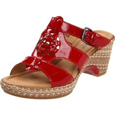27efe8826ca37 Gabor Women s Gabor 42.745 Sandal ( 181) ❤ liked on Polyvore Red Wedges