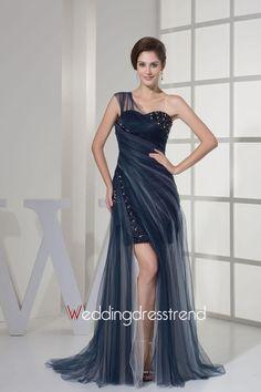 Sexy One-shoulder Beaded Sweep/Brush Column Dress with Split Front http://www.weddingdresstrend.com/en/sexy-one-shoulder-beaded-sweep-brush-column-dress-with-split-front.html #prom dress