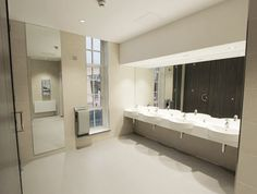 Beautiful tiles from the Iconic range bring luxury to these public restrooms.