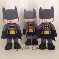 Batman de feltro - molde adaptado da apostila Linda Lolita