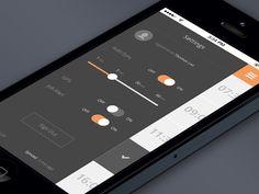 Job app settings screen.