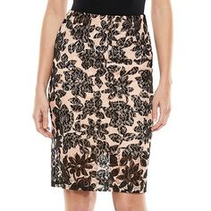 ELLE™ Lace Pencil Skirt - Women's