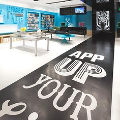AISIDI, main dealer of product and mobile service in China, has combined with Coordination Asia, a firm of design and architecture, to launch a new series of stores, AER. Advertising slogan inscribed on the black path to the ground, counter Lego game on the typography, the result is beautiful and successful.