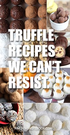 Make these truffle recipes and your friends will love you forever! These are simply the best! Best Dessert Recipes, Candy Recipes, Just Desserts, Sweets Recipes, Holiday Desserts, Holiday Recipes, Chocolates, Chocolate Cookie Dough, Homemade Candies