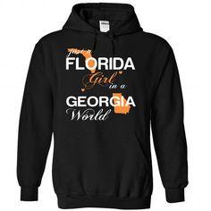 Just A Florida Girl In A Georgia World T Shirts, Hoodies, Sweatshirts