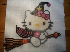Hello Kitty witch hama perler by mes-petites-creations-13