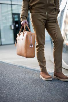 JIM RICKEY BRIEFCASE Briefcase, Scandinavian Design, Wardrobe Staples, Gentleman, Branding Design, Khaki Pants, Footwear, Sneakers, Leather