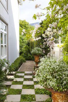 Designer: Tirzah Stubbs Style: Classical Garden Type: Private Garden Garden Types, Private Garden, Stepping Stones, South Africa, Gardens, Outdoor Decor, Design, Style, Swag