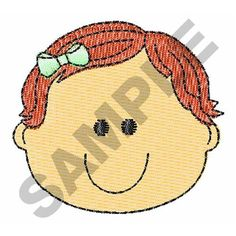 BABY GIRL FACE embroidery design
