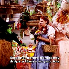 One of my favorite quotes from The Wizard of Oz.