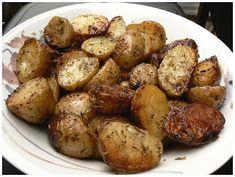 Le palais gourmand: Pommes de terre grelot au beurre d'ail et  fines h...