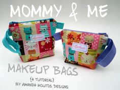 Matching Mommy & Me Makeup Bags For Mother's Day [A TUTORIAL]