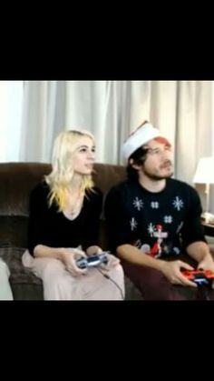 Amy and Mark during the Toys For Tots charity livestream