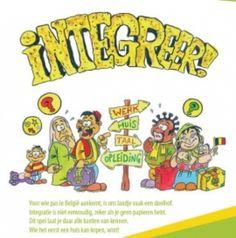 """INTEGREER! In het spel """"Integreer"""" is iedereen nieuwkomer. Bedoeling van het spel is je zo snel mogelijk te integreren. Dit gebeurt in verschillende stappen: de taal leren, een opleiding zoeken, werk zoeken, een huis huren. Wie het eerst een huis kan kopen, heeft de spreekwoordelijke Belgische """"baksteen in de maag"""" en heeft gewonnen! Het spel wordt afgesloten met een bespreking over integratie en over het integratiebeleid in België."""