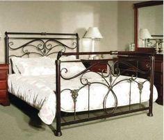 NEW-QUEEN-LISBON-METAL-BED-BRONZE-WITH-HAND-PAINTED-GOLD Metal Beds, Lisbon, Bronze, Hand Painted, Cabinet, Interior Design, Bedroom, Storage, Gold