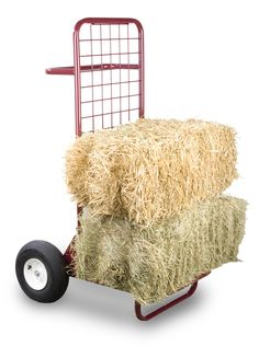 An oversized dolly designed to carry hay - there's an idea!  Fold up too for storage.  Available through Classic Equine Equipment.