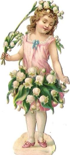 Vintage Scrap... Lily of the Valleys..