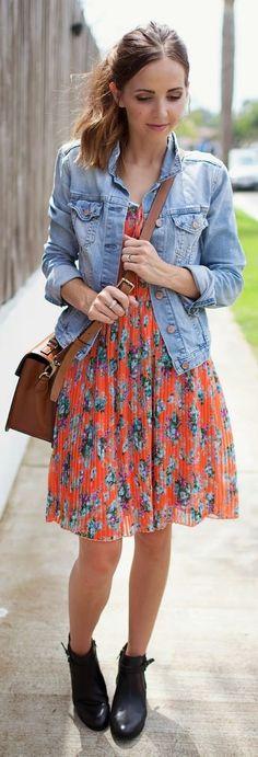 Wallis Orange Multi Floral Fit And Flare Midi Dress
