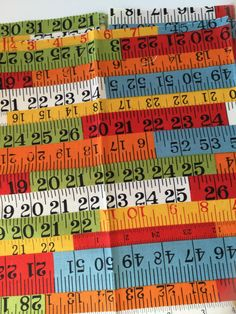 Tape Measure Recess Red American Jane for Moda Fat Quarter Quilt Fabric Sewing Fabric Retro Fabric by littleswedeheart on Etsy