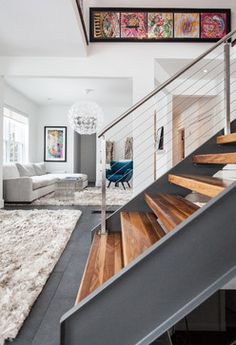 Love it. Modern Home In The Middle Of St. John's - modern - family room - other metro - Becki Peckham