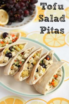 Tofu Salad Pitas