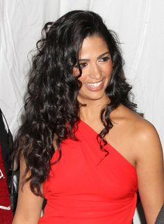 Camila Alves' curly, long hairstyle