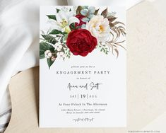 Engagement Party Invitation Engagement Invites Instant | Etsy