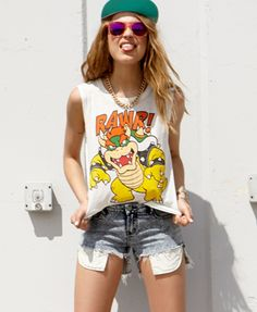 Bowser™ Rawr Muscle Tee | FOREVER21 - $12.80 - Size: Large (only size left)...otherwise Medium usually - Pretty amazing!