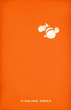 "Would love this ""minimalist Pixar poster"" from Andrea Nguyen in his room. Finding Nemo"