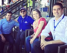 At one of the last Cuba Spring Training Games with Mexican Consulate Claudia Franco, former Mayor of Nogales Marco Lopez, & Vice Mayor of Mesa David Luna. #globaltrade #iheartmesa #economicdevelopment