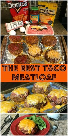 hamburger meat recipes Our family LOVES this delicious combination of tacos and meatloaf! The Best Taco Meatloaf is such an easy meal to make. Just mix up ground beef, ground por Taco Meatloaf, Meatloaf Recipes, Pork Recipes, Gourmet Recipes, Mexican Food Recipes, Cooking Recipes, Healthy Recipes, Recipies, Recipe For Meatloaf