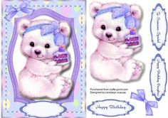 A lovely card to make and give to any child on there birthday Is it for me Yummy - Yum, a lovely card has three greeting tags and a blank one for you to choose the sentiment,