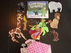Feltboard Idea for Book, Good Night Gorilla by Peggy Rathmann (from Thrive After Three)
