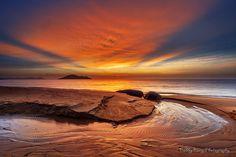 Kura-Kura Beach West Borneo Indonesia #Photography #Sunset Burning Sunset by Bobby Bong, via 500px