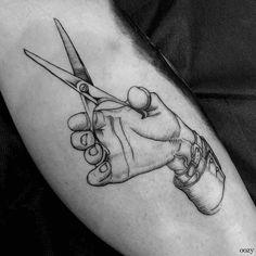 Scissors Tattoo, Scissors Hand, Best Scissors, David Tattoo, I Tattoo, Elegant Tattoos, Pretty Tattoos, Top Tattoos, Hand Tattoos